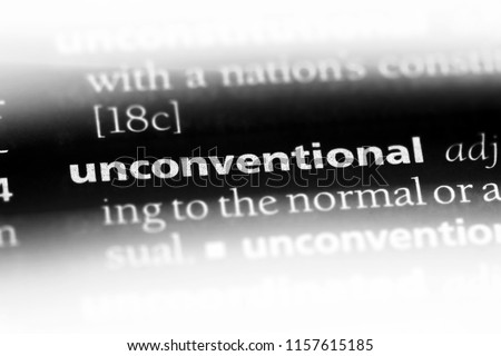 unconventional word in a dictionary. unconventional concept.
