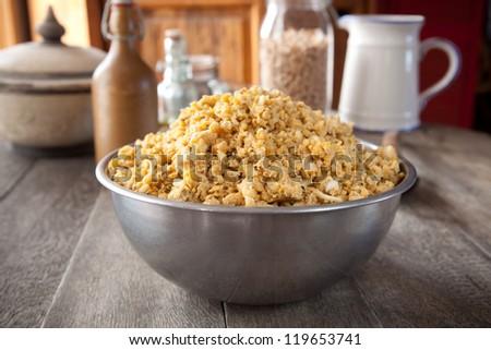 Uncooked falafel batter or dough in a bowl