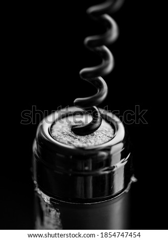 Uncorking a bottle of red wine Stock photo ©