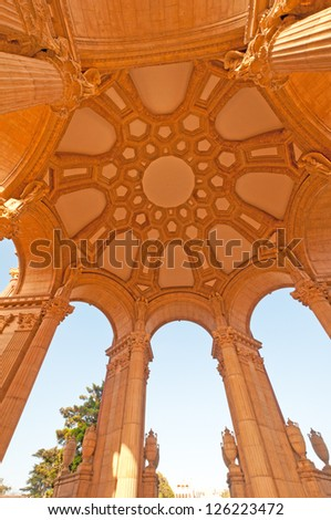 Under Ceiling view of the Historical Palace of Fine Arts in San Francisco. #126223472