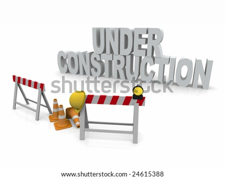 Under Construction 3D Render scene
