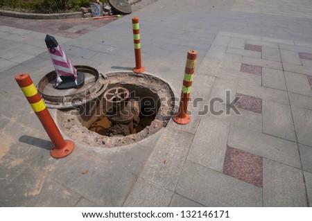Under Construction valve on street