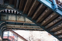 Under elevated NYC Subway tracks