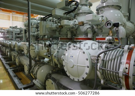 Indoor gas insulated switchgear (GIS) in the substation Free Images