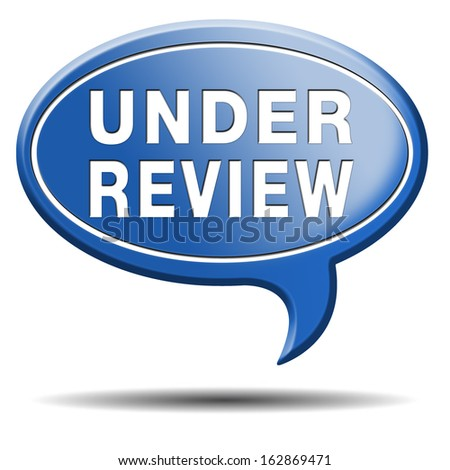 under review pending application button or icon