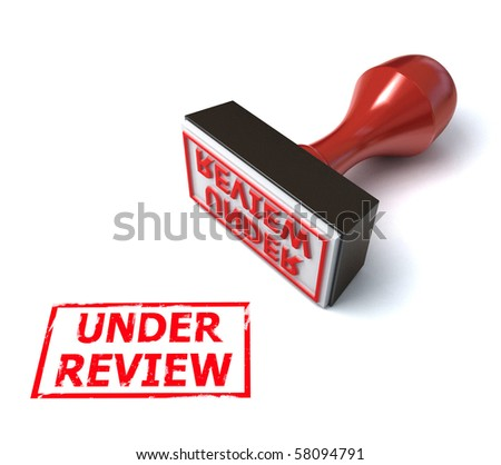 under review rubber stamp  3d illustration - stock photo