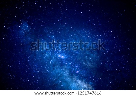 Under the Milky Way Galaxy, stars and star clusters