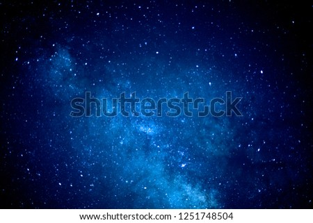 Under the Milky Way Galaxy, stars and star clusters #1251748504