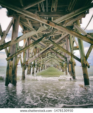 Under the old Florida fishing pier #1478130950