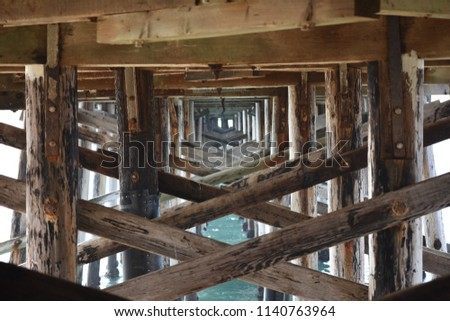 Under the pier #1140763964