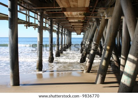 Under the Santa Monica Pier in Southern California
