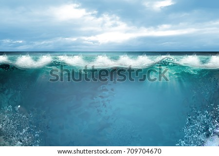 UNDER WATER AND WAVES