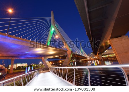 Under Zakim Bridge, Boston