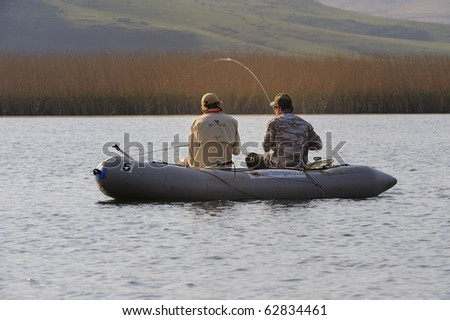UNDERBERG, SOUTH AFRICA - SEPTEMBER 28: Youth fly-fishing trials held  at Giant's Cup Wilderness on September 28, 2010 in Underberg to chose a team to represent South Africa at the 2011  world championships.
