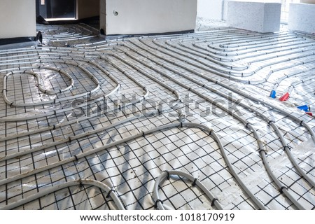 Underfloor heating system in new residential house #1018170919