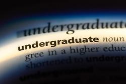 undergraduate word in a dictionary. undergraduate concept.