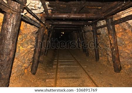 Underground anthracite coal mine in Ashland Pennsylvania.