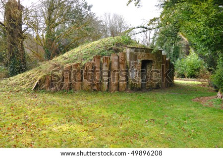 Underground bunker - stock photo