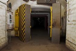 Underground bunker from cold war.Object 825 GTS(or K-825)- an underground submarine base in Balaklava, a secret military installation during the Cold War, located in the Balaklava.Sevastopol. Ukraine.