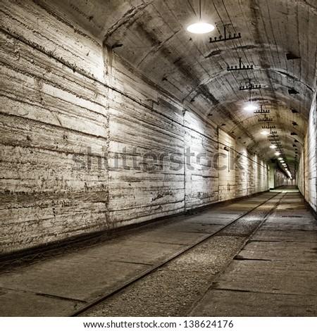 Underground bunker from cold war. Ukraine, Sevastopol