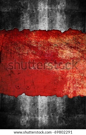 Underground grunge background, black and red color - stock photo
