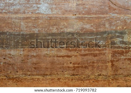 Underground layers of earth, Soil layer wall. #719093782