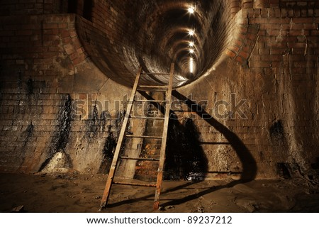 Underground old sewage treatment plant in Prague.
