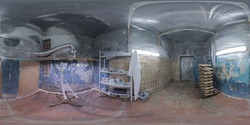 Underground paint shop clean room spherical panorama