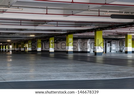 Underground Parking Garage In Shopping Center Sao Paulo 146678339
