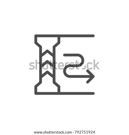 Underground parking line icon isolated on white