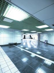 Underground passage in modern building