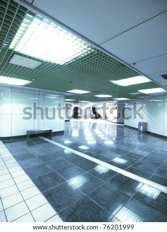 Underground passage in modern building