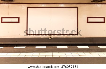 underground platform with empty ...