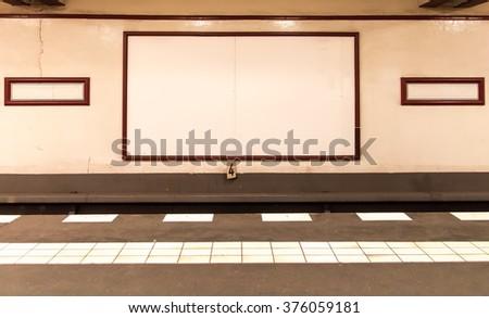 underground platform with empty ...