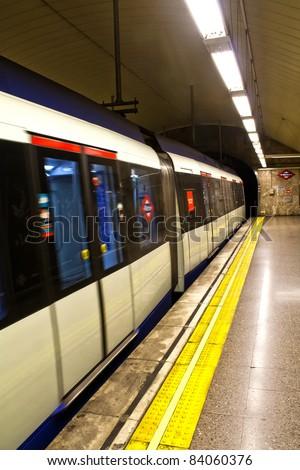 underground station in Madrid, Spain