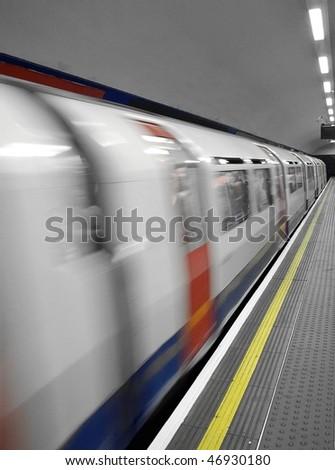 Underground Train - stock photo