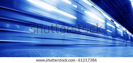 Underground train dynamic motion picture - stock photo