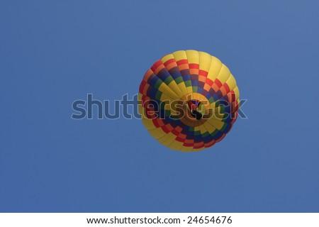 Underneath view of a hot air balloon