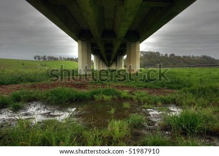 Underside of a bridge in Victoria