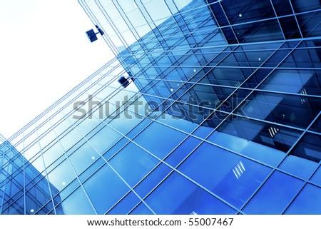 Underside view to new skyscraper business center