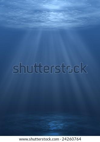 underwater abstract - stock photo