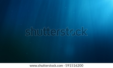 Underwater background. Blue Underwater with ripple and wave lights.