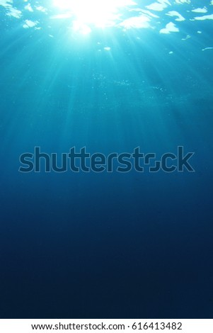 Underwater blue background photo #616413482