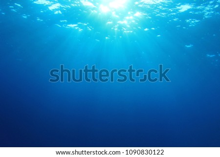 Underwater blue sea #1090830122