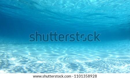 Underwater clear blue ocean background
