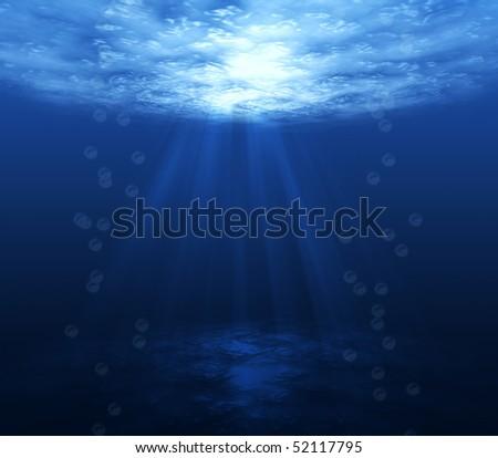 underwater  dark blue background