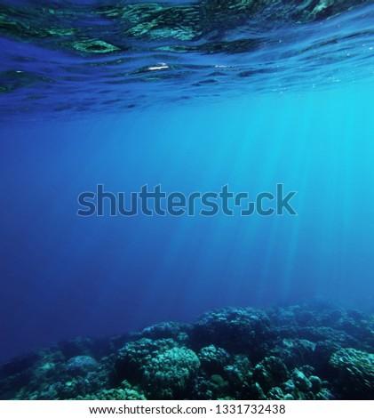 underwater deep blue sea #1331732438