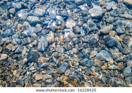Underwater pebble texture