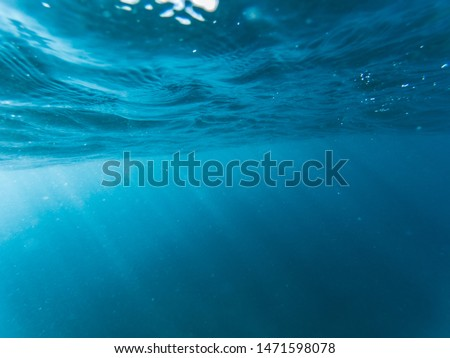 Underwater photo of blue sea