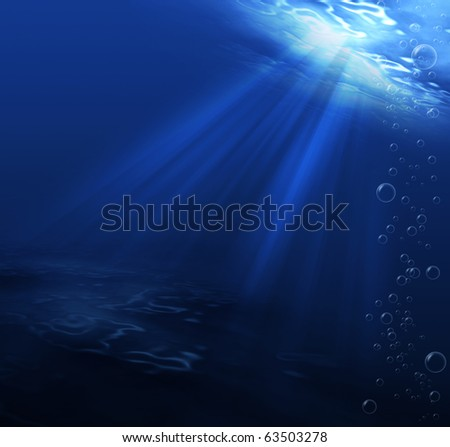 underwater scene blue for background